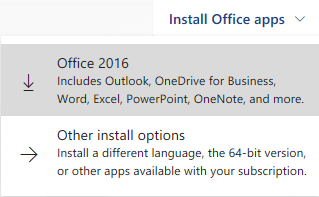 O365 Microsoft Office Installation Options