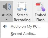 Microsoft PowerPoint Insert Audio