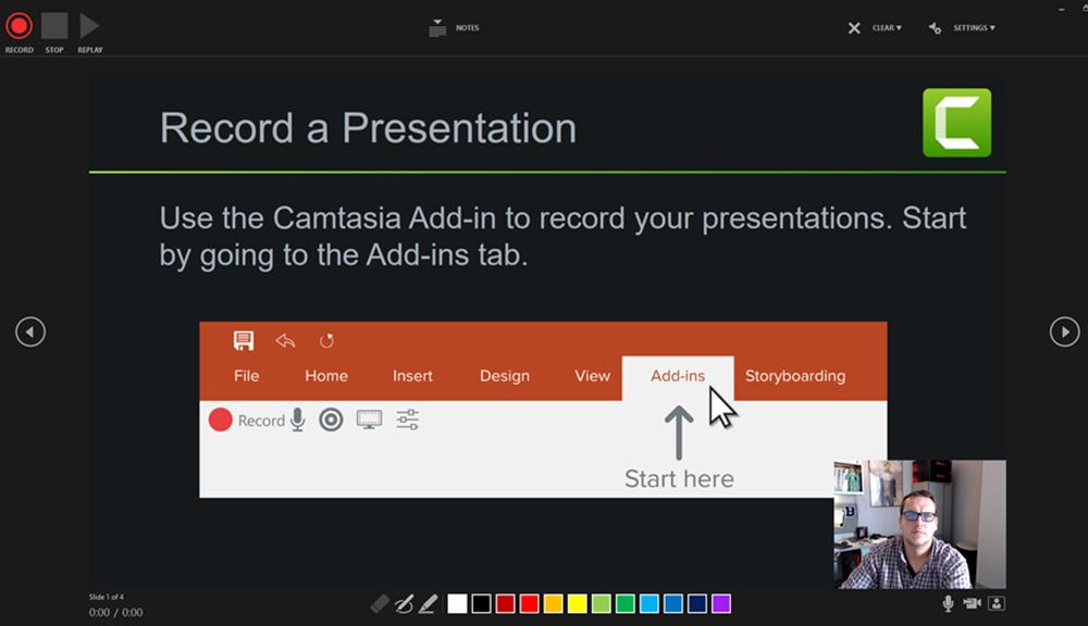 PowerPoint Recording Screen